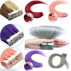 16''-24'' Seamless PU Tape In Skin Weft Remy Human Hair Extensions Dip Dye Ombre