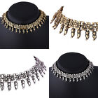Elegant Retro Women Crystal Plated Alloy Choker Necklace Collar  Exaggeration