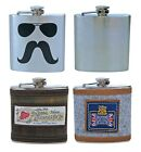 Mens Unique Stainless Steel Woven Vintage Pattern 6oz Whiskey Hip Flask Gift Box
