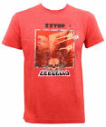 Authentic ZZ TOP Deguello Album Cover Slim-Fit T-Shirt Heather Red S-2XL NEW