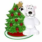 PERSONALIZED CHRISTMAS ORNAMENT FAMILY-POLAR BEAR DECORATING TREE