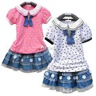 2pcs Girl Kids Baby Outfits Sets Cake Skirt+Printed T-Shirt Suit Clothes1-7Y DZ8