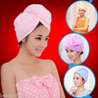 BD Women Girl Turban Microfiber Hair Hat Quick-Dry Hair Shower Cap Bath Towel