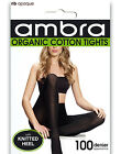 Ambra Organic Cotton Rib Tights AORGCRT Black
