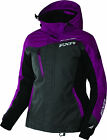 FXR Womens Wineberry/Black/Charcoal Tri Vertical Pro Snow Jacket Shell w/ Liner