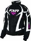 FXR Womens Black/White Team Snowmobile Jacket Insulated Snocross
