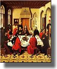 The Last Supper by Bouts Picture on Stretched Canvas, Wall Art Decor, Ready to H