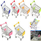Multi Color Mini Supermarket Handcart Shopping Utility Cart Mode Storage Toy NEW