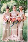 ASTRA Rose Gold Sequin Full Length Bridesmaid Evening Ballgown Dress UK 6 - 18