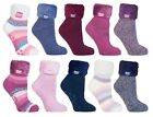 Heat Holders - Womens Thick Bed / Lounge Thermal Non Slip Bed Socks / Slippers
