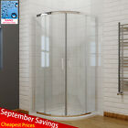 Offset Quadrant Shower Enclosure Easy Clean Glass Walk In Shower Cubicle Door