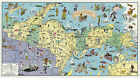 1935 Pictorial Map Land of Hiawatha Michigan's Upper Peninsula Wall Poster Decor