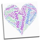 Heart canvas print word art perfect gift for weddings birthday sepecial events