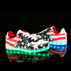 New LED Light Lace Up Luminous Shoes Sportswear Sneaker Unisex Casual Shoes