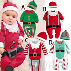 Children Baby Boy Kids Romper Hat Cap Set Christmas Clothes Set Outfits 0-24M