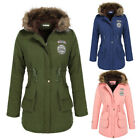 Women classic warm Hooded tunic Down Fur Collar Jacket Coat Parka trench Outwear