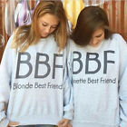 For Women Tracksuit Harajuku Best Friend Tops Sweatshirt BBF Letter Print