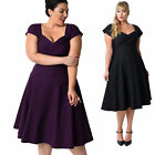 50S Classic 60S Housewife Vintage Plus Formal Womens Dress Rockabilly