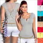 NEW SEXY LADIES CASUAL TOPS XS S M L HOT DESIGNER SHIRTS 6 8 10 12 lacy top girl