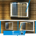 Bathroom Illuminated LED Mirror  IP44 Demister Sensor Touch FREE NEXTDAY DEL  AA