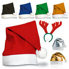 1-50 Unisex Father Christmas Hats Xmas Santa Family Hats Gift Adult/Child Lot
