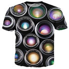 New Big Size Men 3D Print T-Shirt Short Sleeved Casual Tee Colorful Round Tops