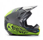 NEW FLY RACING KINETIC ELITE ONSET MX ADULT HELMET MATTE BLACK/GREY SIZE X-LARGE