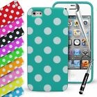 Polka Dots Silicone Gel Rubber Durable Case Cover for Apple iPhone 5 5s SE