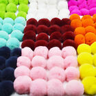 Real Rabbit Fur Ball PomPom Car PhonePendant Keychain Handbag Cute Ball 1 Pcs