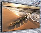 Sandy Cove Panoramic Canvas Print Modern Art 4 Sizes to Choose Ready to Hang