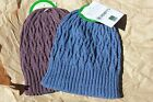 US MADE Hemp Beanie hat Organic Cotton HEMPY'S ski snow skateboard cable knit