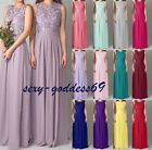 Long Chiffon bridesmaid Formal Evening Party Gown prom Women's Dress Size 6-22