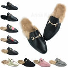 AnnaKastle Womens Fur-Lined Backless Loafers Slip-ons Slippers US 5 6 7 8 9
