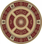 """FREE S&H RED ROUND 6 X 6 PERSIAN AREA RUG ORIENTAL 8307 - ACTUAL 5' 2"""" ROUND"""