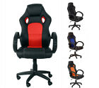 LUXURY SPORTS GAMING RACING OFFICE COMPUTER PU LEATHER CHAIR SWIVEL ADJUSTABLE