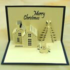 3D Stereoscopic Merry Christmas House gift Greeting Card Hot Christmas Card New