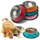 Non Slip 11/13cm Stainless Steel Cat Puppy Dog Pet Bowl Dish Water Food Feeding