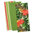 Tropical Palms Cotton Kitchen Towel Set Of 3 Tea Towels Vintage Style