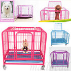 Heavy-Duty Folding Strong Steel Pet Dog Puppy Cage Crate Carrier Wheels UK Stock