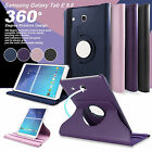 """Samsung Galaxy Tab A & E 9.6"""" 9.7'' 10.1"""" 360° Rotating Stand Leather Case Cover"""