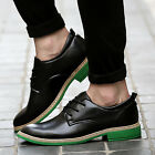 Men Green Oxfords Lace Up Casual Formal New Fashion Pointed Leather Shoes Dress