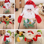 Cute Christmas Clear Plastic Santa Cookie Candy Storage Bottle Bags Xmas Gifts