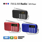 Lcd Portable Digital Fm Radio Speaker Usb Micro Sd Tf Card Mp3 Music Player Us