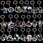 Hot Overwatch 21 Heros Q Version Acrylic Keychain Key Ring Pendant Collect Gift