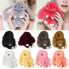Lovely Bunny Rabbit Fur Key Chain Ring For Phone Car Pendant Handbag Bag Charms