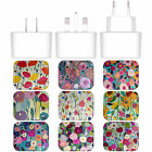 CARRIE SCHMITT FLORALS WHITE US CHARGER & MICRO-USB CABLE FOR MICROSOFT PHONES