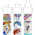 MARC ALLANTE ANIMALS WHITE UK CHARGER & MICRO-USB CABLE FOR SAMSUNG PHONES 1