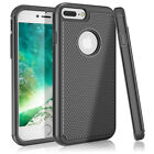 Interior Silicone Bumper Hard Shell Solid PC Back Cover Shell For iPhone 7 Plus