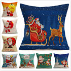 1X Christmas Printed Sofa Bed Home Decoration Festival Pillow Case Cushion Cover