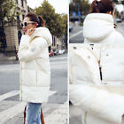 Fashion Womens Winter Long Thicken Cotton Jacket Hooded Coat Overcoat Downs